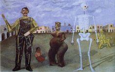 Cuatro habitantes de Ciudad de México (1938) - Frida Kahlo. Colección privada Palo Alto, California, EE.UU.