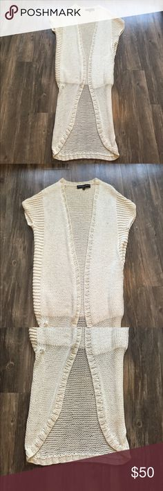 Twinkle by Wenlan Long Cardigan Great used condition. Minor snag in lower part of cardigan that is hardly noticeable. Perfect for multiple seasons. Super soft- 70% silk, 30% cotton. Off white color. Twinkle by Wenlan Sweaters Cardigans