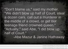 Vampire Academy Quotes | Abe Mazur & Janine Hathaway