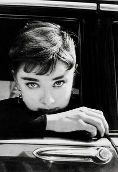 "Audrey Hepburn during the filming of ""Sabrina"", New York, NY. 1954"