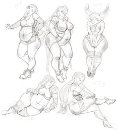 some games fat girls sketch by Berkhana on deviantART Human Anatomy Drawing, Body Drawing, Figure Sketching, Figure Drawing, Cartoon Drawings, Art Drawings, Art Et Design, Fat Art, Poses References