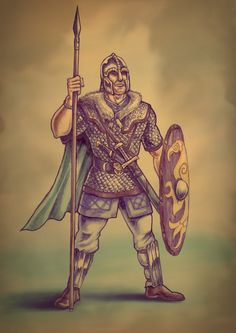 Anglo Saxon Warrior, 7th Century AD by Popius on DeviantArt