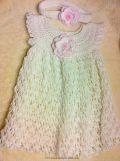 Crochet Baby Dress Baby Dress, crochet baby dress, Girls crochet dress..maybe?....