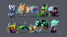 Hero-Chibi-by-inkinesss.jpg - Viper, Puck and Slark is SOOOOOO CUTE !!