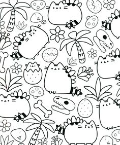 Cat Coloring Sheet