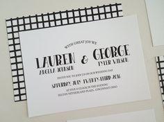 Printable Wedding Invitation  Casual Wedding Invites. This wedding invitation set features hand drawn font and plaid backside.