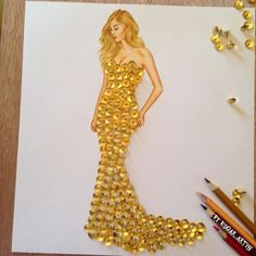 Armenian Fashion Illustrator Creates Stunning Dresses From Everyday Objects Pics) - atemberaubende kleider Paper Fashion, Arte Fashion, 3d Fashion, Vegan Fashion, Dress Design Sketches, Fashion Design Drawings, Fashion Sketches, Dress Designs, Fashion Illustrations