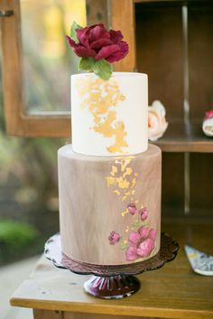 Hand Painted Wedding Cake - By Sweet & Saucy Shop