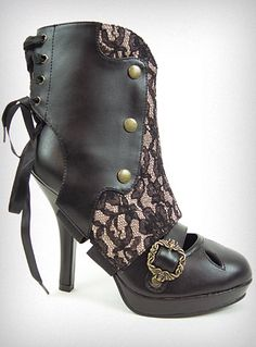 `.Metamorphosis Bootie Pumps, these are Called. Customizable, Interchangeable... Steampunk Spirit.
