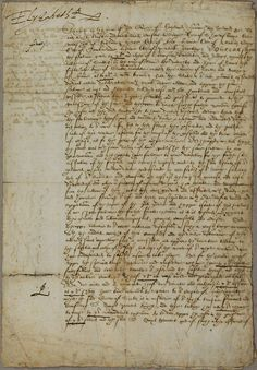 This is the only surviving contemporary copy of the death warrant of Mary, Queen of Scots. It belonged to Henry Grey, 6th Earl of Kent copy (LPL MS4769 f.1r.)