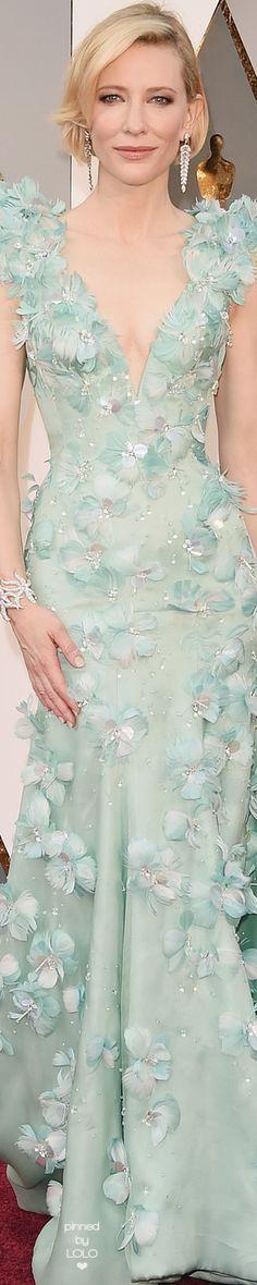 Cate Blanchette in Armani Privé 2016 Oscars | LOLO❤︎