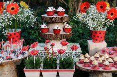 Ladybug Party Dessert Table Feature #ladybugparty