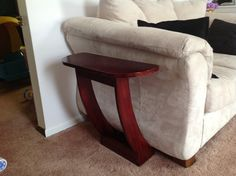 Space Saving End Table by MarksWoodshop on Etsy, $150.00