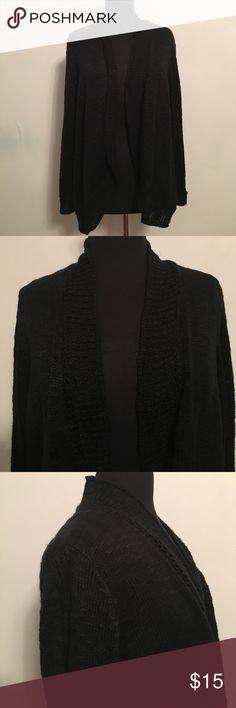 Rafaella Black Cardigan 100% Acrylic Sleeve: 26 inches Length: 27 inches Rafaella Sweaters Cardigans