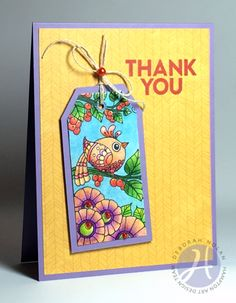 thank you card by Deborah Nolan