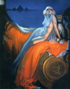 Cleopatra (1939) by the great American Art Deco artist Rolf Armstrong