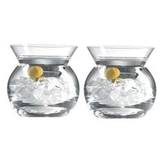 stemless martini glasses