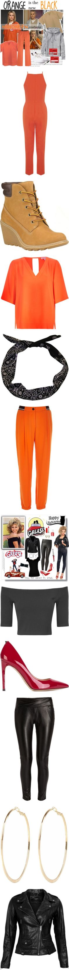 Lazy Girl's Guide to Halloween: 7 DIY Costumes by polyvore-editorial on Polyvore featuring Halloween, diycostume, Athleta, Eytys, halloweencostume, oitnb, DIYHalloween, jumpsuits, blood orange and petite
