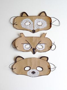 Brown Paper Bag Animal Headbands and Masks