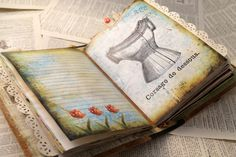 Vintage inspired printable journal kits and other digital downloads by graphic artist Debbie-Anne Parent.