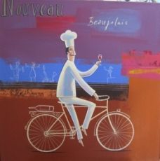 Frans Groenewald   Beaujolais   Alice Art Gallery Chef Kitchen Decor, Kitchen Art, Bicycle Painting, Africa Art, Wine Lover, Childrens Books, Decoupage, Beautiful Pictures, Alice