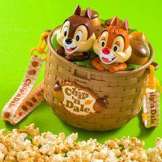 Disney Chip And Dale Popcorn Bucket Basket Type Only Limited Japan Disney Souvenirs, Disney Snacks, Disney Food, Cute Disney, Disney Mickey, Disney Cars, Disney Stuff, Mickey Mouse, Disneyland Food