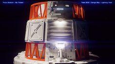 A new render of my cargo bay doors. Bay Door, Portfolio Site, Star Trek Ships, Space Station, Jukebox, Lighting, Cgi, Doors, Film