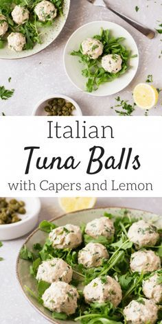 Italian Tuna Balls with Lemon and Capers. A great, easy and delicious Italian appetizer that's ready in no time. All She Cooks