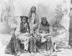 L-R: San Juan (Mescalero Apache), un-identified (Lipan Apache), Nautzili… Native American Print, Native American Wisdom, Native American Photos, American Spirit, Native American History, Native American Indians, American Life, Native Indian, First Nations