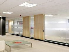 Glass office partitions - great use of light and creates an open feel