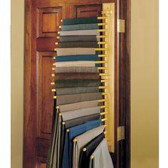 The Closet Organizing 10 Trouser Rack - Hammacher Schlemmer