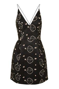 PETITE Rose Strappy Bonded Mini Dress