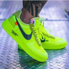 sneakers Nike Off White Air Force 1 Volt Women's Work Jeans By Dickies Th Off White Shoes, White Sneakers, Sneakers Nike, Nike Trainers, White Air Force 1, Nike Airforce 1, Hype Shoes, Dream Shoes, Baskets