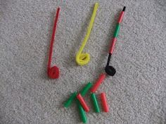 Pipe Cleaner and Straw Busy bags, this is a cheap and fun activity to make. All items can be found at the $ store.