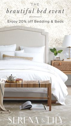 Find new ways to style your bedroom during our Beautiful Bed Event now until 1/23. Enjoy 20% off Bedding & Beds with code DREAM. Shop now!