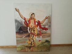 Dandavats | Beautiful painting of Lord Gauranga on auction for the benefit of TOVP