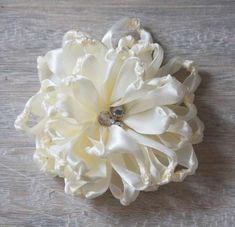 How to Make Ribbon Fabric Flowers | Knotted Chrysanthemum Tutorial