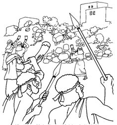 joshua and gibeonites coloring pages - photo#7
