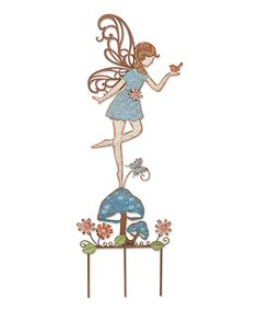 Look at this Blue Fairy & Flowers Garden Stake on #zulily today!
