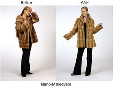 Fur restyle from old mink jacket to reversible sheared mink jacket