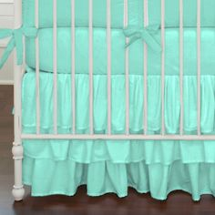Solid Teal Baby Crib Bedding #carouseldesigns