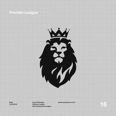 Lion - Premier League Logo RedesignYou can find Premier league and more on our website. Typography Logo, Art Logo, Logo Lion, Premier League Logo, Military Drawings, Logo Desing, Lion Wallpaper, Lion Design, Joker Art