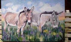 Donkey painting 900x600