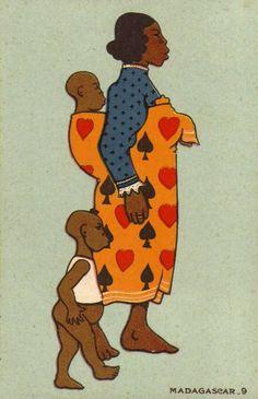 Madagascar, femme et ses enfants