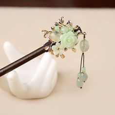 Chinese style hair stickHair pinHair Accessoriesgift for Magical Jewelry, Unique Jewelry, Gifts For Women, Gifts For Her, Jewelry Closet, Bride Hair Accessories, Jade Jewelry, Hair Sticks, Hair Ornaments