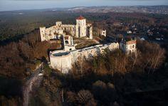 Zamek Tenczyn w Rudnie.  #Poland #castle #castles  http://www.malopolska24.pl/index.php/2013/12/malopolskie-zamki-z-lotu-ptaka/