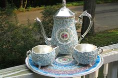 Wedgewood china mosaic tea set