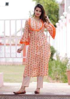 New Image : Salwar designs Kurti Sleeves Design, Sleeves Designs For Dresses, Neck Designs For Suits, Dress Neck Designs, Sleeve Designs, Blouse Designs, Salwar Neck Designs, Kurta Neck Design, Kurta Designs Women