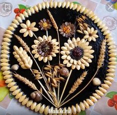 me ~ DIY Fall Decoration Diy Crafts Hacks, Diy Home Crafts, Creative Crafts, Crafts For Kids, Art Crafts, Diy Wall Art, Diy Art, Pista Shell Crafts, Seed Craft