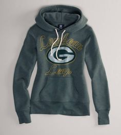 Green Bay Packers NFL Hooded Popover. Want!